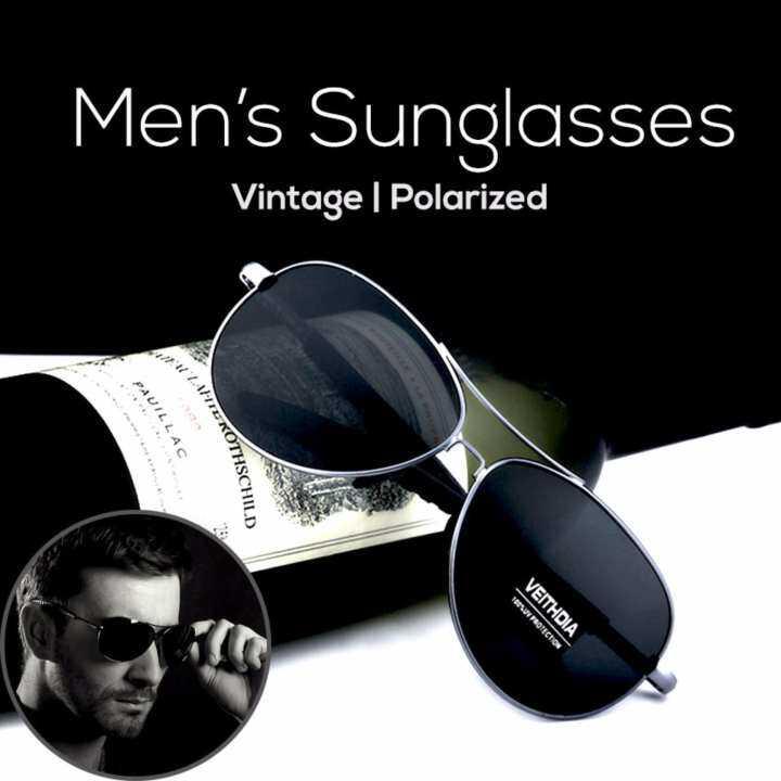 0cff59a9ca8 Realeos Premium Men Aviator Alloy Frame Polarized Sunglasses Set with Box -  R485