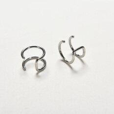 Velishy New Men Women Chic Clip On Earrings Non Piercing Cartilage Ear Silver