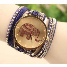 Velvet Diamond Bracelet Watch Ladies Watches High Elephant Pattern Blue Malaysia