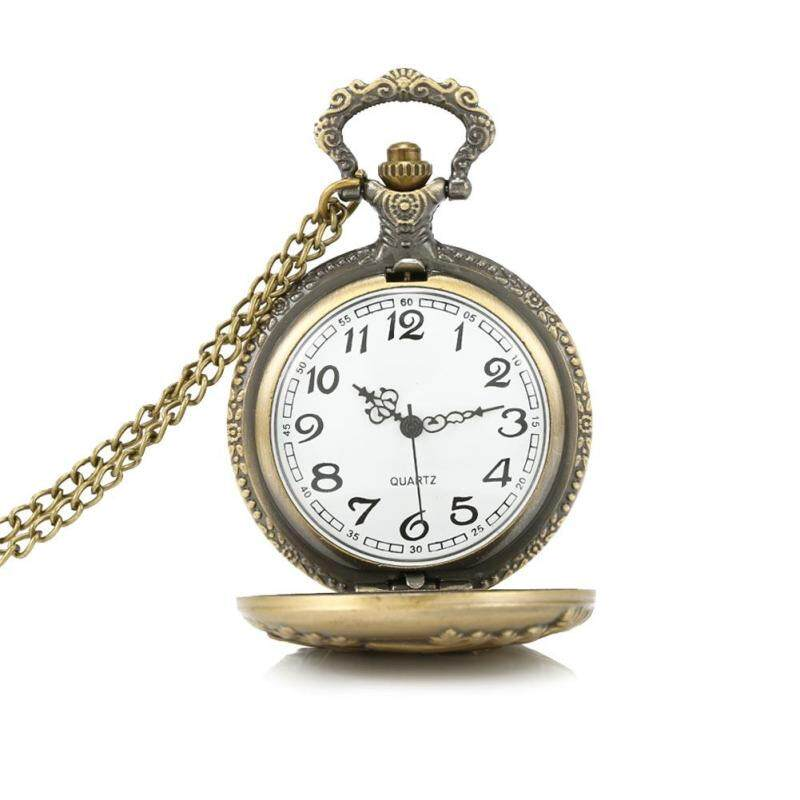 Vintage Charming Train Boat Ship Carved Hollow Steampunk Quartz Pocket Watch Men Women Necklace Pendant Clock Gifts Malaysia