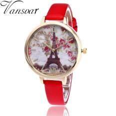 Vintage Paris Eiffel Tower Women Fashion Watch Crystal Leather Quartz Wristwatch