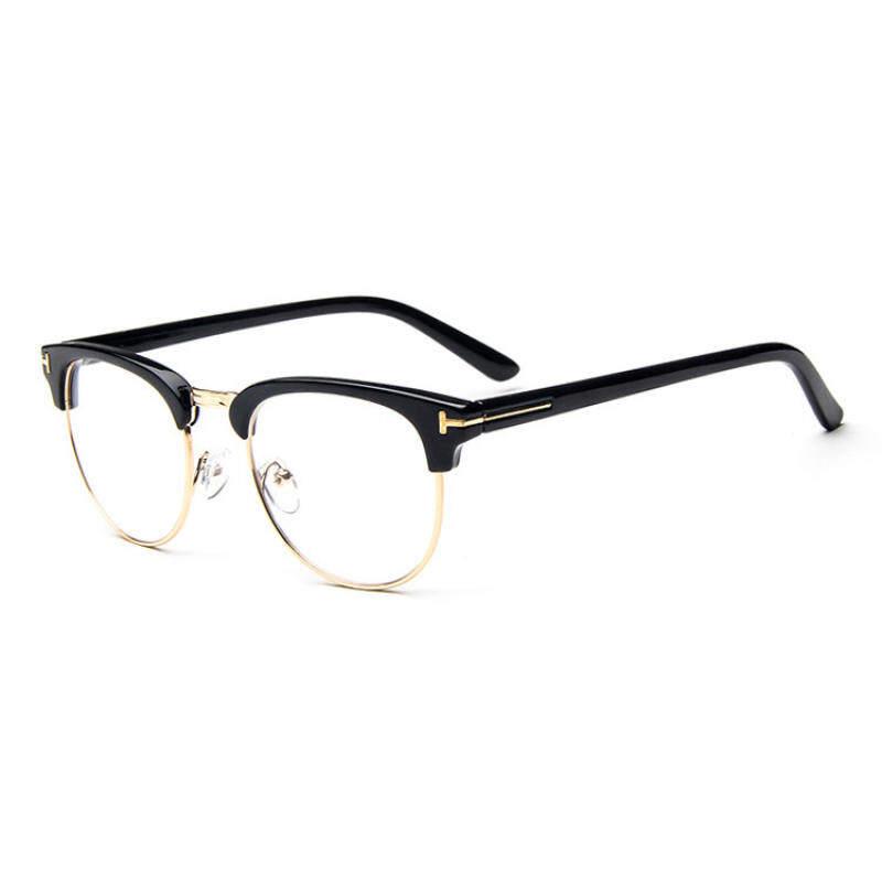 Kmdshxns Vintamen Bingkai Kacamata Kacamata Retro Kacamata Lensa Bening  untuk Pria Kacamata 3d079eb4ff