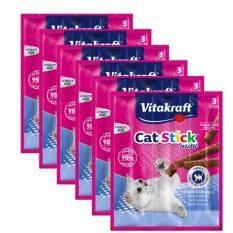 Vitakraft - Cat Sticks Mini + Plaice & Omega 3 X 5 By Happy Pets.