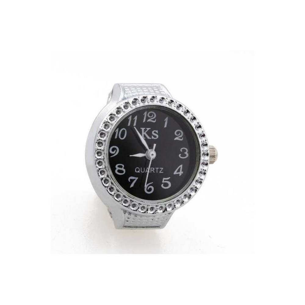 VR Tech Alloy Round Quartz Pocket Piece Ring Silver Finger Watch Time Malaysia
