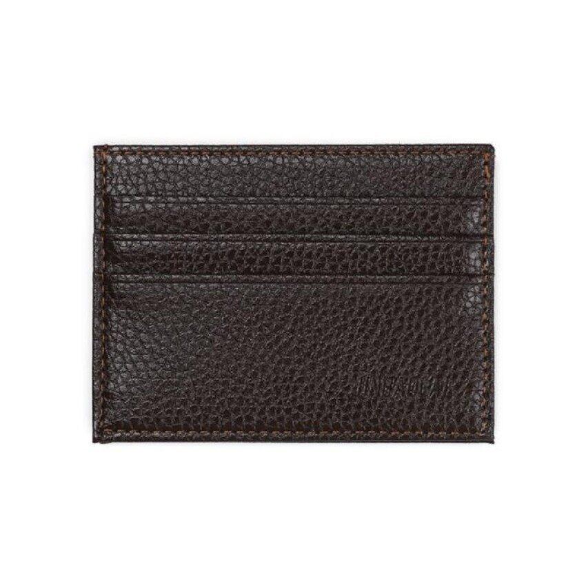 Vsstore Fashion Retro Pria Kulit Clutch Billfold Dompet Kredit Id Card Slim Dompet Kopi-Intl