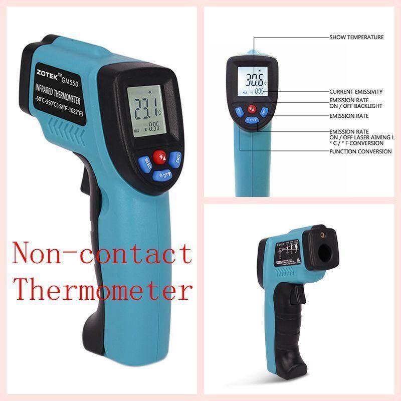 Wanxinkeji Presisi Industri Inframerah Termometer Zoyi GM550 Kompak Laser Digital Inframerah Termometer-58 °F dan 1022 °F Akurat Dapat Disesuaikan emisivitas LED Lampu Latar Displayr-Internasional