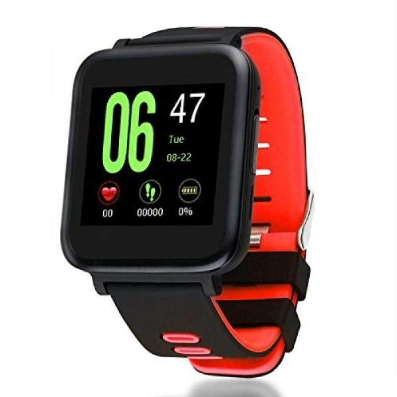 Waterproof Bluetooth Smart Watch, Fitness Tracker, Heart Rate Monitor, Pedometer, Sync Calls and SMS, Electronic Touch Screen Wristwatch For Android and IOS Phones (Red) Malaysia