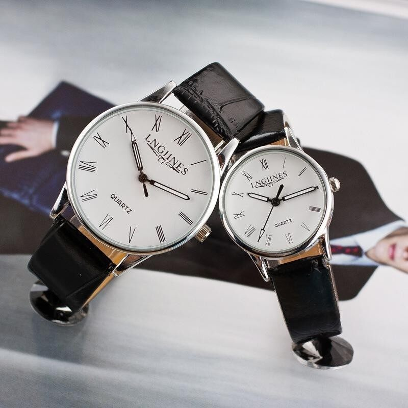 Waterproof Men Clock Leather Band Quartz Movement Couple Wristwatches Malaysia