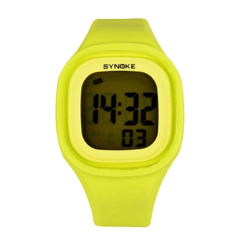 [FF8866YY] Waterproof Silicone Candy Color Square LED Digital Watch Sports - Wrist Intl Green Casual Malaysia