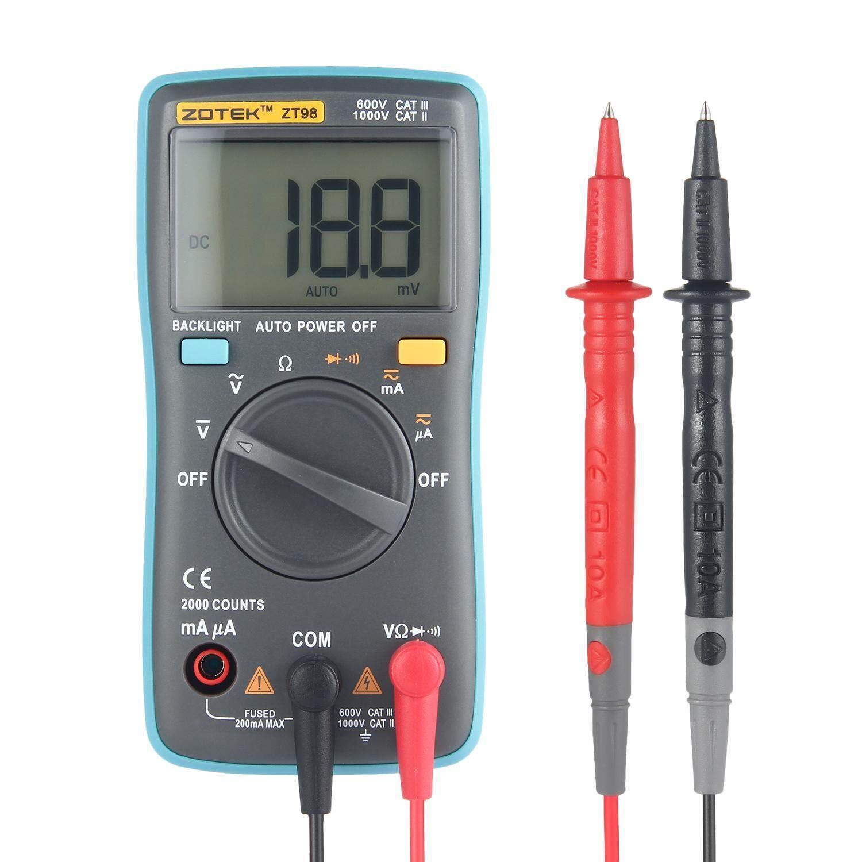 ruixiang Digital Multimeter, Auto Ranging Pocket Digital Multimeter Digital Multi Tester - AC DC Voltage