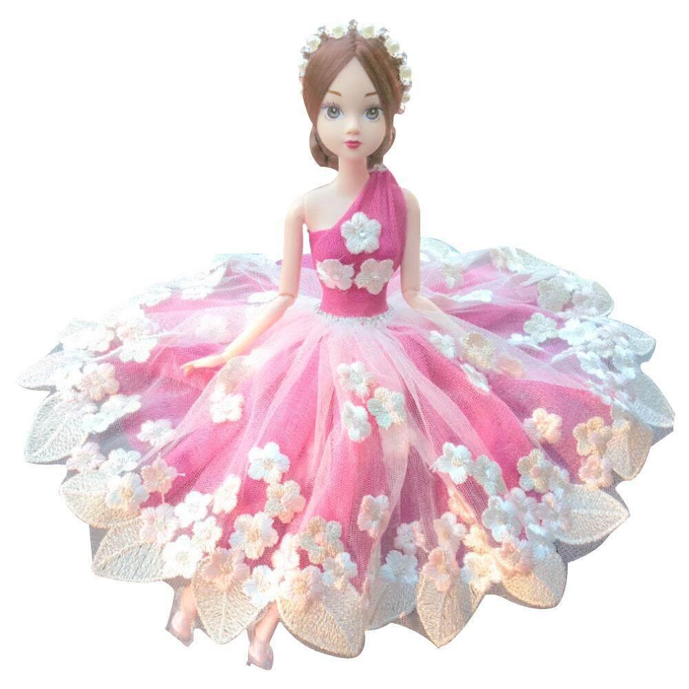 Buy Sell Cheapest Dolls Party Dress Best Quality Product Deals Boneka Barby Opoopv Elegan Buatan Tangan Fashion Gaun Pernikahan Barbie Pesta Dekorasi Mobil Intl