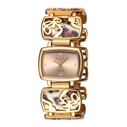f850e07ba77 WEIQIN Leopard Bracelet Watches Women Fashion Rhinestone Gold Watch Quartz- watch Hour Gift for Her