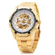 Winner F1205158 Men Automatic Mechanical Watch Steel Strap BLACK AND COLD WHITE Malaysia
