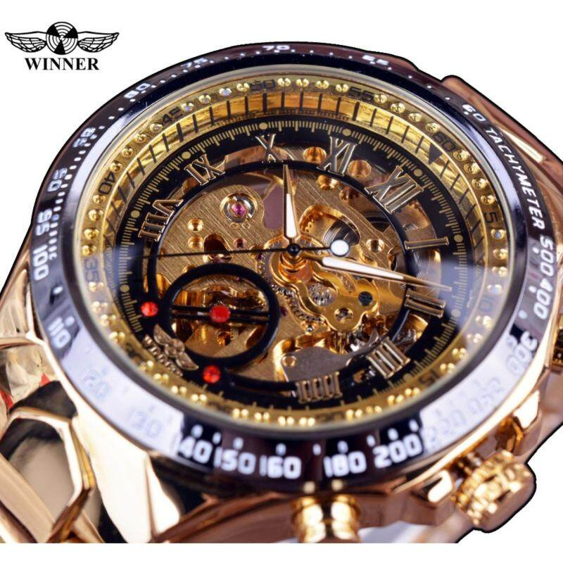 Winner New Number Sport Design Bezel Golden Watch Mens Watches Top Brand Luxury Montre Homme Clock Men Automatic Skeleton Watch Malaysia