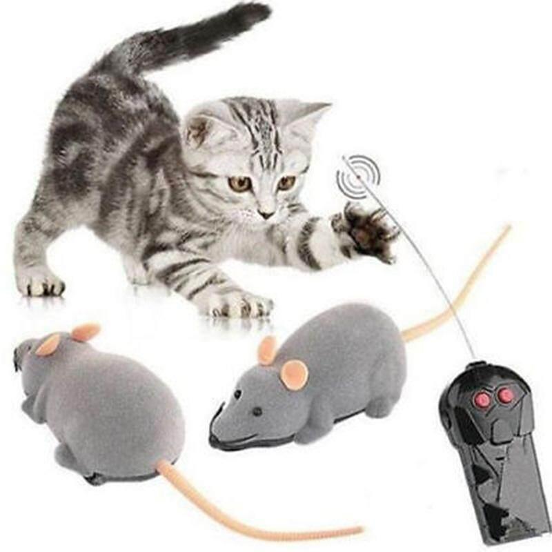 Pasang Pioneer Wireless RC Kendali Jarak Jauh Elektronik Tikus Mainan Tikus untuk Anak Anjing Kucing Hadiah