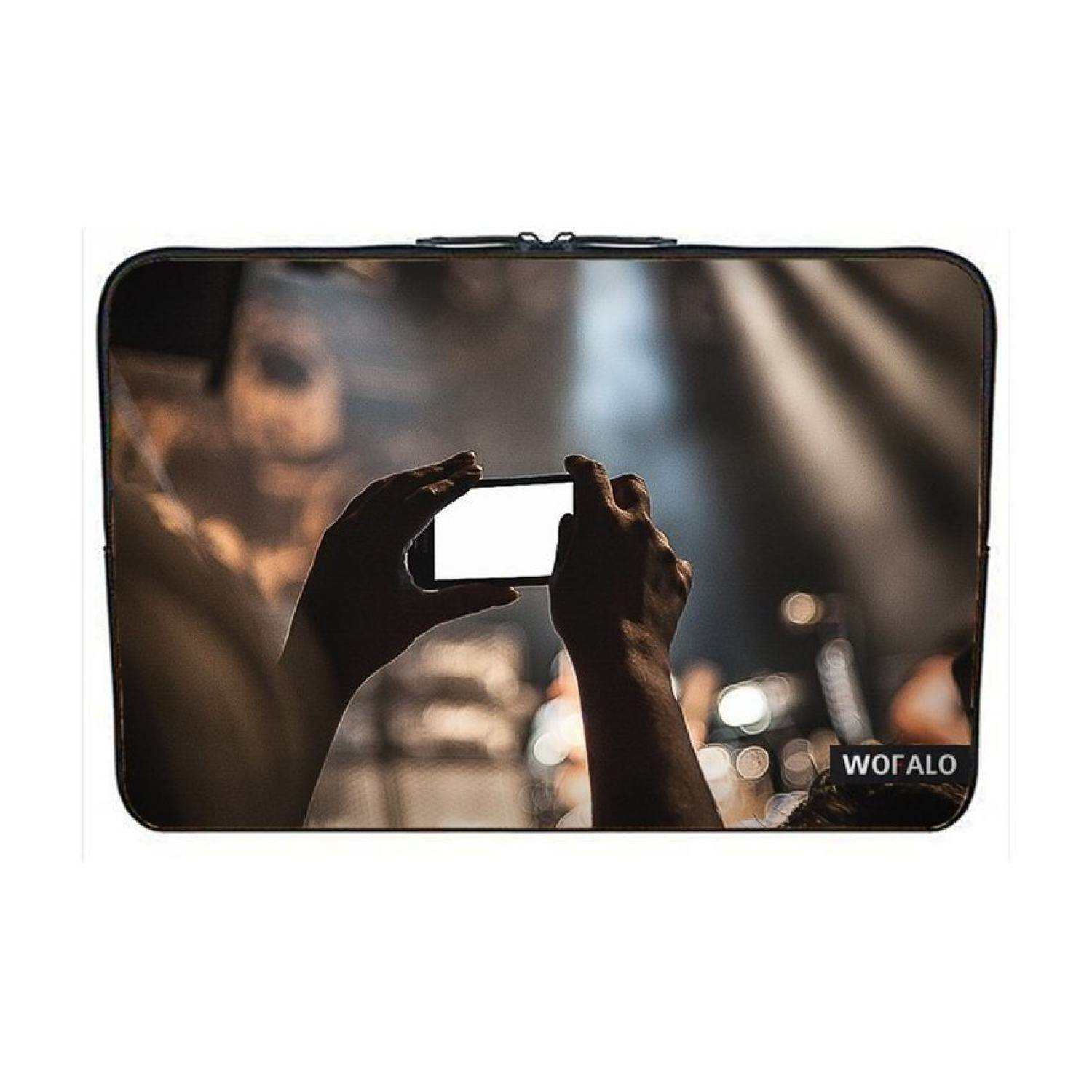 WOFALO 12.6 12.8 13 13.3 Inch Laptop Sleeve Case Bag Cover Neoprenefor Macbook/Netbook/Laptop/Notebook/Ultrabook Smartphone camerafilm shoot camera photography spectators hand fan - intl