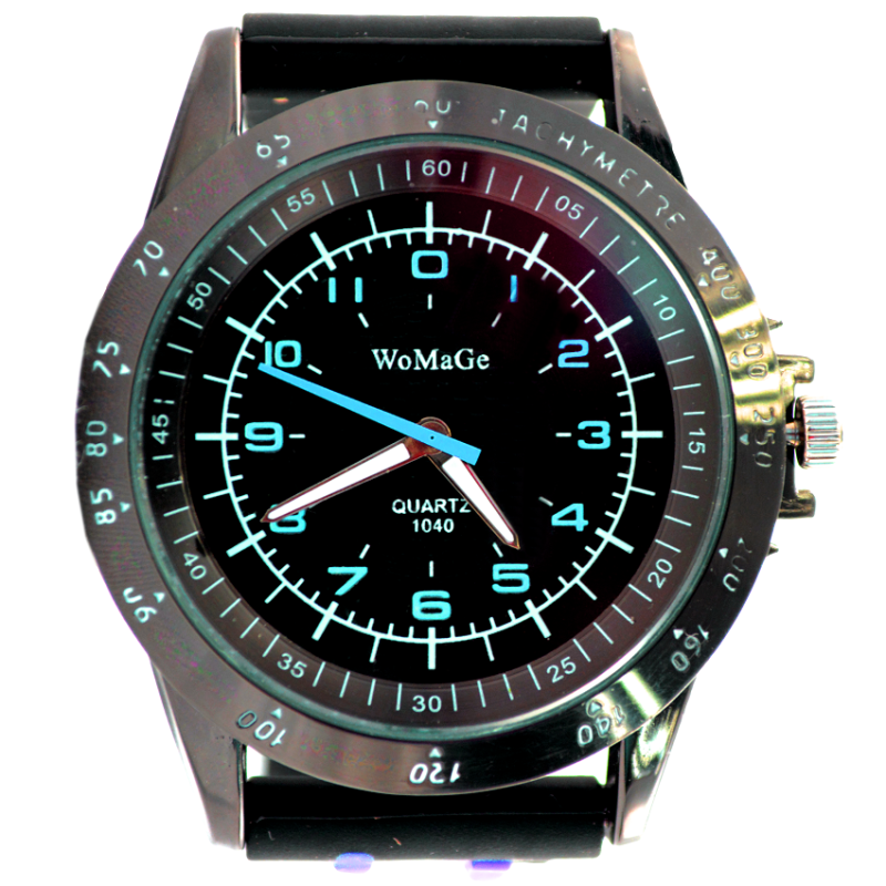 WoMaGe Brand Clock Quartz Movement Silicone Band Wristwatch Watch Men Relogio Masculino Sports - Black SkyBlue Malaysia