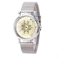 Woman Ladies Phoenix Automatic Mechanical Hollow-out Stainless Steel Wrist Watch Silver Malaysia