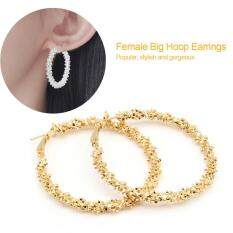 Women Big Hoop Earrings Large Loop Circle Alloy Jewelry Ear Rings (gold) By Highfly.