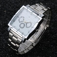 Women Convenience Fashion Watch Square Simple Casual Steel Popular Ladies Watch White Malaysia