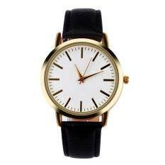 Women Men Band Analog Quartz Business Wrist Watch Black Malaysia