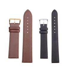 Women Men High Quality Unisex Leather Black Brown Watch Strap Band 18mm Malaysia