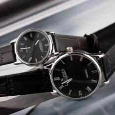 Women Men Leather Band Couple Wristwatches Waterproof Analog Quartz Clock Malaysia