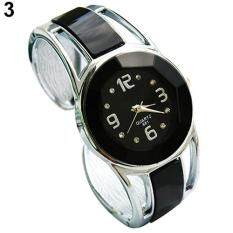Women Opening End Quartz Analog Round Case Bracelet Bangle Wrist Watch By Gloryworld.