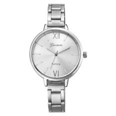 Women Small Steel Band Analog Quartz Wrist Watch Silver Malaysia