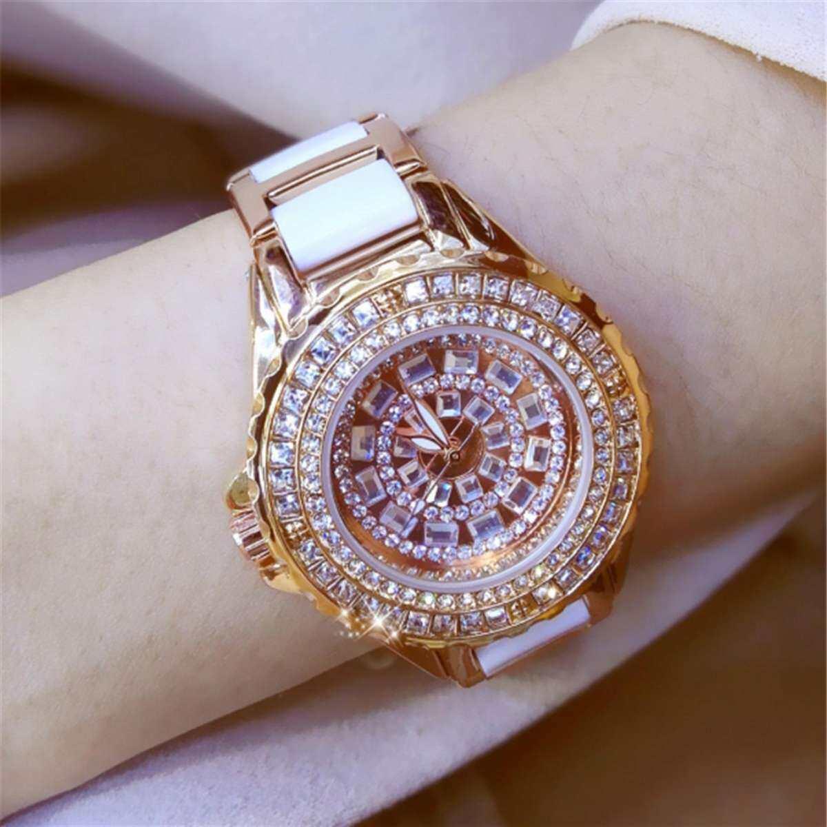 Jam Tangan Wanita Jam Tangan Wanita Pergelangan Tangan Guest House Baru High-End Rantai Watch Berlian Jenama Berlian Jam Tangan Wanita
