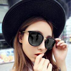 Womens Girls Sunglasses Uv400 Protection Metal Frame Vintage Retro Black Frame By Grandmise Store.