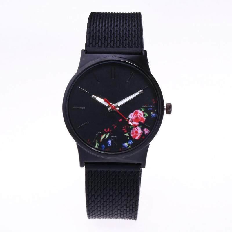 Womens Fashion Picture Design Silicone Band Analog Alloy Quartz Wrist Watch F Malaysia