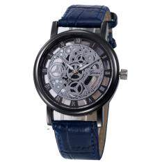 Womens Hollow Analog Quartz Stainless Steel Wrist Watch Watches Blue Malaysia