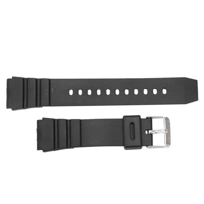 Womens Mens Silicone Watch Band Wristwatch Strap with Silver Tone Buckle 18mm Malaysia