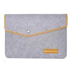 Wol Merasa 13 Inci Sarung Laptop Case Tas untuk HP IBM MAC BOOK Air/Pro, Ukuran: 34X24 Cm-Abu-abu Muda
