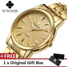 WWOOR 8028 Top Luxury Brand Watch For Man Fashion Sports Men Quartz Watches Trend Wristwatch Gift For Male jam tangan lelaki Malaysia