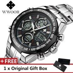WWOOR 8019 Top Luxury Brand Watch For Man Fashion Sports Men Quartz Watches Trend Wristwatch Gift For Male jam tangan lelaki Malaysia