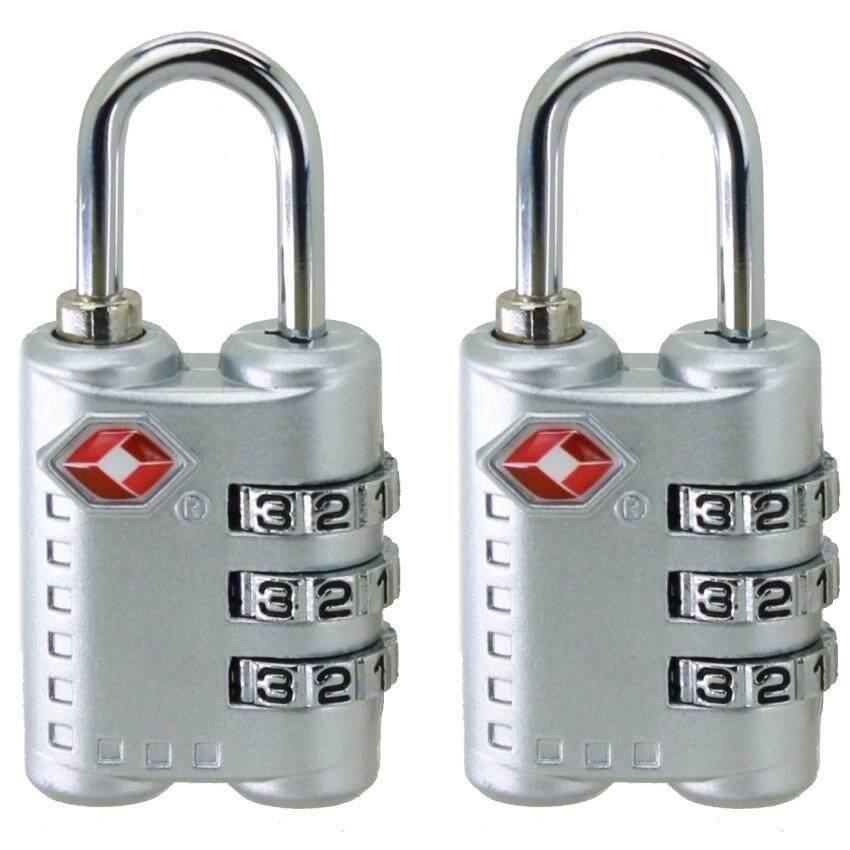Cestlafit 2 Pcs Baru Tiba 3-Dial TSA Disetujui Kunci Pengaman untuk Travelluggage Koper Tas
