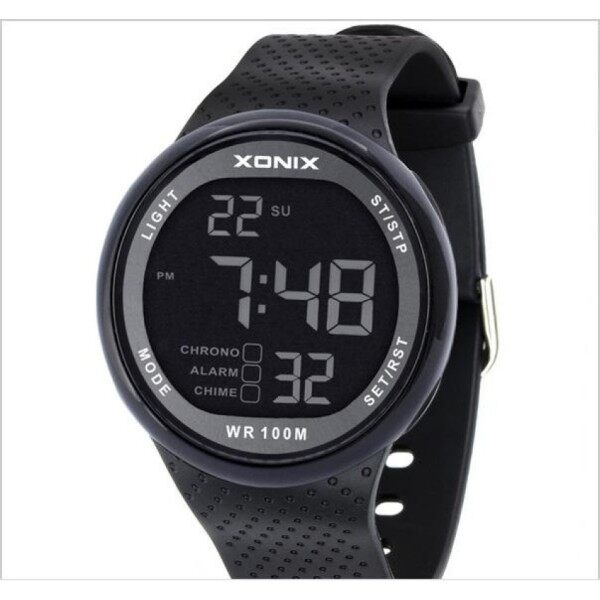 XONIX Watch Men Military Sports Watches Fashion PU Waterproof LED Digital Watch For Men Clock digital-watch Malaysia