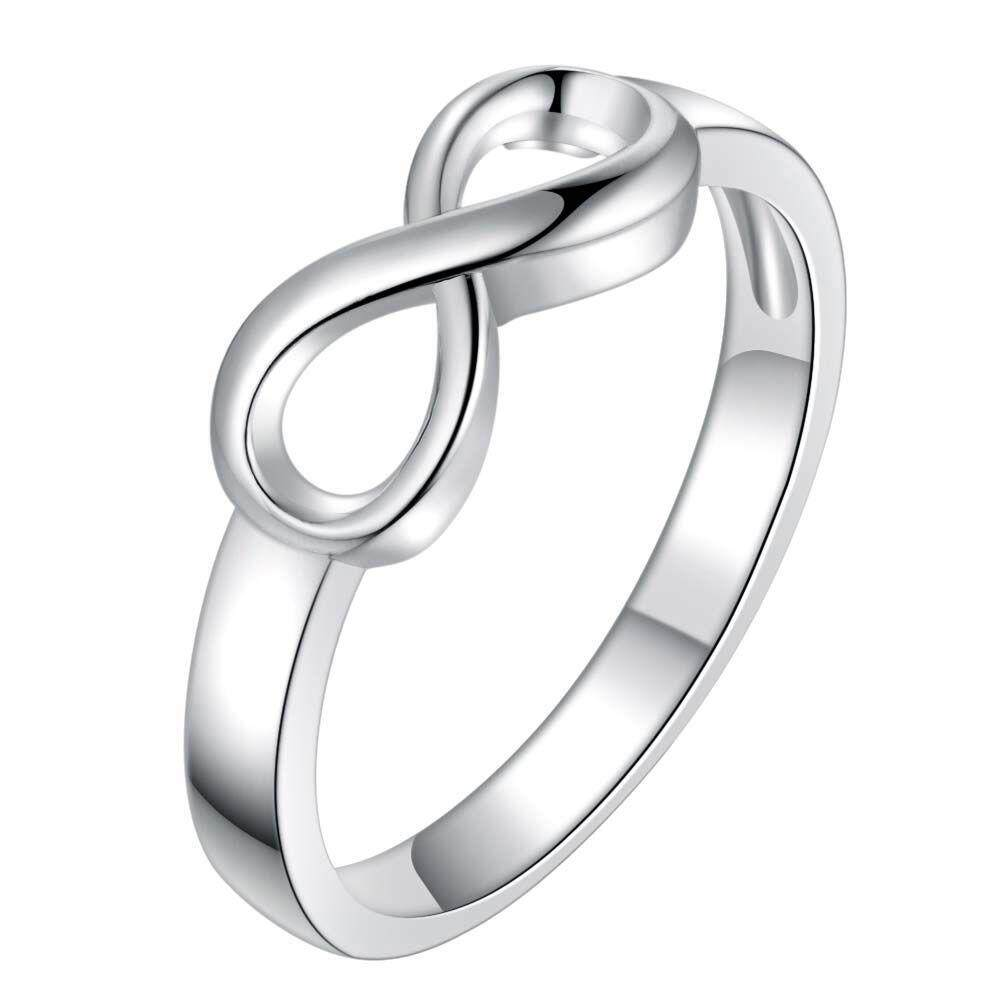 【BLN-Jewelry】Ya Lirui Jewelry With Silver Plated 8 Word Ring - intl