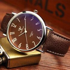YAZOLE Brand Watch Leather Men Watches Quartz Wristwatches Male Quartz-watch YZL299Z-A-Brown Malaysia