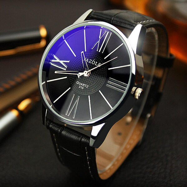 YAZOLE Brand Watch Leather Men Watches Quartz Wristwatches Male Quartz-watch YZL315H-Black Malaysia