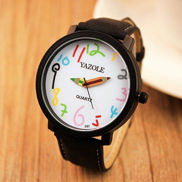 YAZOLE Brand Watch Men Women Watches Quartz Wristwatches Female Male Quartz- watch YZL347-Black ...