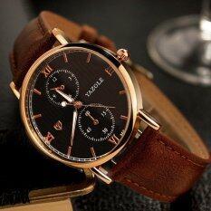 YAZOLE Brand Watch Leather Men Watches Quartz Wristwatches Male Quartz-watch YZL355H-Brown Malaysia