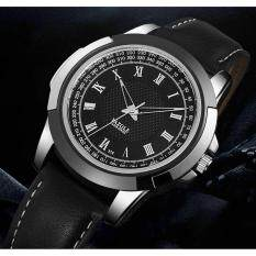 Yazole 378 Leather Band Men Business Watches Quartz Top Brand Luxury Malaysia