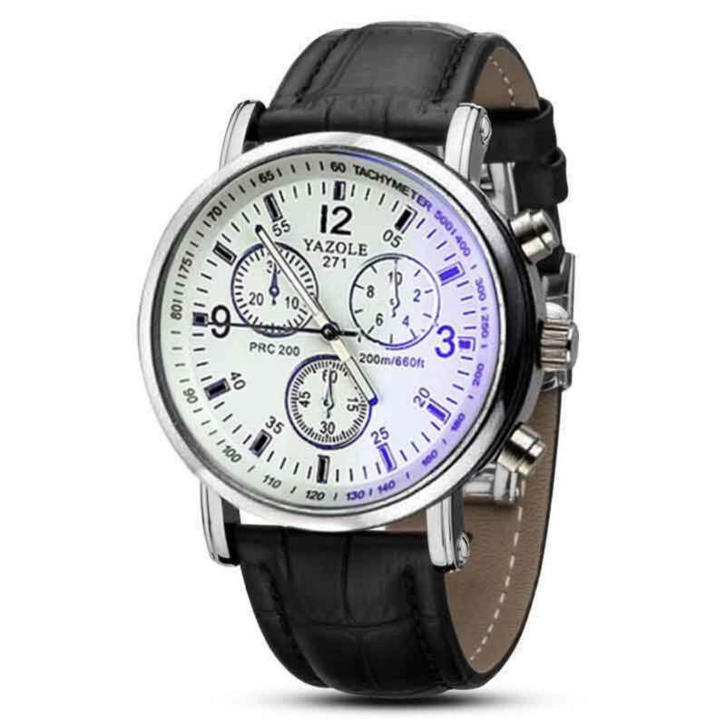 YAZOLE Luxury Mens Waterproof Casual Business Quartz Watches Leather Stainless Steel Military Sports Quartz Watches Student Leather Watches Date Display Malaysia