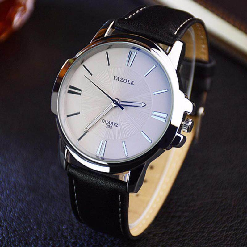 Yazole Mens Sunray Collection Leather Strap Watch Malaysia