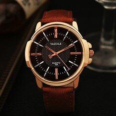 YAZOLE Top Luxury Brand Watch Men Watches Business Male Quartz Wristwatches Waterproof Quartz-watch YZL358H-Brown Malaysia