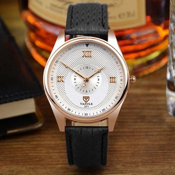YAZOLE Top Luxury Brand Watch Men Watches Business Male Quartz Wristwatches Waterproof Quartz-watch YZL371-Black Malaysia