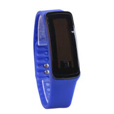YBC 2pcs Women Sport LED Silicone Rubber Strap Touch Screen Digital Bracelet Watch (Dark Blue) Malaysia